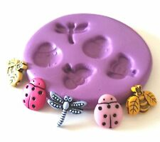 Teeny Tiny INSECTS Silicone Mould 11 mm Fimo Fondant Cake Decorate Embellishment