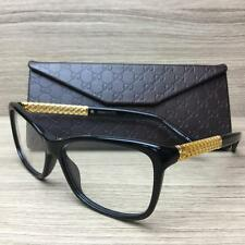 Gucci GG 3695 GG3695 Eyeglasses Frames Black Gold Plated 2XT Authentic 54mm