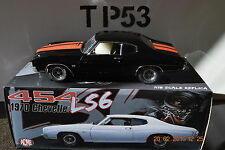 ACME: 1:18 1970 CHEVROLET CHEVELLE 454 LS6 TOM GARAGE VERSION BLACK/RED STRIPES