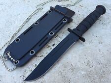 """6"""" Compact Neck / Boot  Knife With Necklace Ka-Bar Style Bowie Type Blade"""