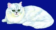 Embroidered Fleece Jacket - Silver Persian Cat BT2517 Sizes S - XXL