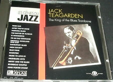 JACK TEAGARDEN THE KING OF THE BLUES TROMBONE  CD LES GENIES DU JAZZ ///