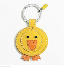 NWT COACH 92835 Duck Leather Keychain Yellow