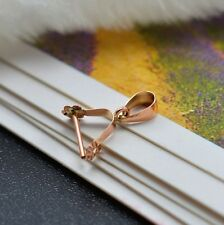 Pure 18K Rose Gold Pendant Hanger / Flower Pendant Clasp / Small one