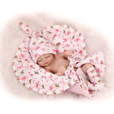 Lovely Reborn baby dolls silicone full body that look Real Mini with Blanket 11""