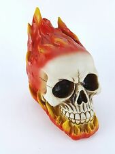 NEW Collectible FLAMING SKULL Handpainted Resin Statue HOT STUFF FLAMES