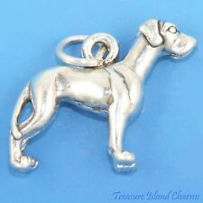 GREAT DANE BREED DOG LARGE 3D .925 Solid Sterling Silver Charm GERMAN MASTIFF
