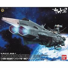 Bandai Yamato 2202 U.N.C.F. ANDROMEDA Movie Effect Ver. 1/1000 Model Kit USA NEW