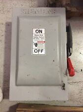 Siemens Heavy Duty Safety Switch 60 Amp 240 Volt HF222N Fusible 2 Pole