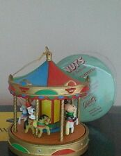 Vintage Peanuts Snoopy Carousel Christmas Ornament Willitts Rare