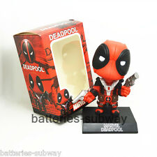 New Box Bobble head Deadpool Wade Wilson Car Auto Decoration Action Figure Toy