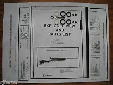 Crosman 160 167 Rifle - TWO (2) Seal Kits + Exploded View + Parts List + Guide