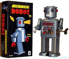 Mechanical Windup Robot R-35 Tin Toy Masudaya Style