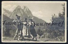 230N  AK Ansichtskarte  Garmisch-Partenkirchen  Werdenfelser Schuhplattler 1936