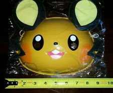 "RARE NWT Japan Pokemon 9""x8"" Electric Fairy Dedenne Mask Halloween Costume"