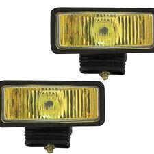 """Pilot Universal 2"""" x 6"""" H3 55w Amber Lens Chrome Housing Fog Lights Lamps Kit"""