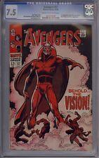 Avengers #57 - CGC Graded 7.5 - 1st Vision
