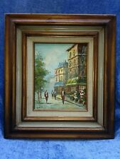 N PATTON - PARIS MARKET STREET SCENE ORIGINAL OIL ON CANVAS PAINTING (A)