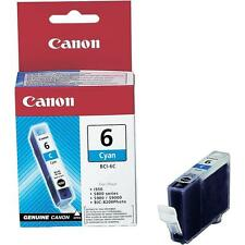 Genuine Canon BCI-6C Cyan Ink Cartridge BubbleJet i965 i990 i9900 i9950