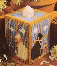 WINDOWSILL CATS TISSUE BOX COVER PLASTIC CANVAS PATTERN INSTRUCTIONS