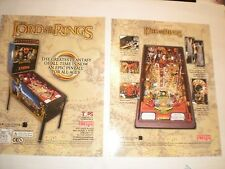 1 ORIGINAL STERN LORD OF THE RINGS PINBALL MACHINE BROCHURE  FLYER