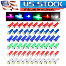 60X 6color T5 5050 1SMD Wedge Car 2721 74 73 70 17 18 37 LED Gauge Light Bulbs