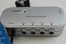 4 Way Aerial Booster  ~  with Digital Bypass ~ Nikkai L23AG ~4