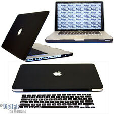 "Apple Macbook Pro 15 15"" 15.4 A1286 Black Rubberized Hard Case + Keyboard Cover"