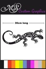 Large *TRIBAL GECKO* Car Decal, Vinyl, Drift Lizard Reptile 30cm long 12 colours