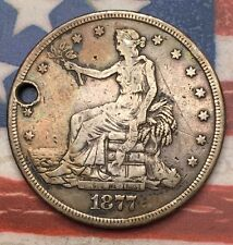 1877-S $1 Trade Dollar 90% Silver Vintage US Coin #SC1 Sharp Appeal