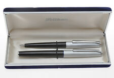 Pelikan 21 Silvexa set, fountain pen 14K gold nib + ballpoint pen, mint in box