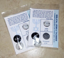 Lot of 2 (TWO) URIM AND THUMMIM Representation Great for Teaching Take a L@@K