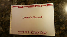 1991 Porsche 911 Turbo Owners Manual - Original Print and Mint