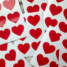 large Red heart decal stickers, packaging, envelope seals