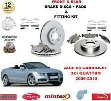 FOR AUDI S5 3.0 QUATTRO 2009-2012 FRONT + REAR BRAKE DISCS & PADS + FITTING KIT