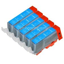 5 CANON + Chip CLI-521 cyan MP 620 MP 630 MP 640 MP540 MP550 IP4700 NEU