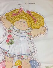 Vintage Melco Textile Corp Cabbage Patch Kids Open Arms Doll Fabric Panel #811
