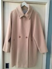 MAX MARA BEIGE CASHMERE VIRGIN WOOL BLEND WINTER COAT size 12