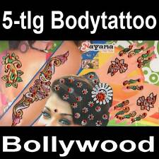 5in1 Bollywood Body Sticker Henna Tattoo Hand Schmuck Haarschmuck Bindis Tikka