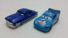 Mattel Disney Pixar Cars Doc Hudson & Dinoco McQueen Metal Toy Car Loose New