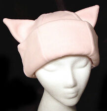 PINK KITTY CAT EAR WINTER FLEECE HALLOWEEN COSTUME SKI SNOWBOARD HAT NEW NWT!