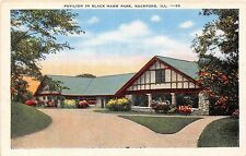 Illinois postcard Rockford, Pavilion in Black Hawk Park