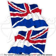 OLANDA-UK Bandiera Onda Olandese-Regno Unito Adesivi in Vinile 120mm Stickers x2