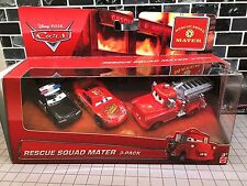 Disney Pixar Cars Rescue Squad Mater Gift Pack Lot Of 3 Diecast Cars