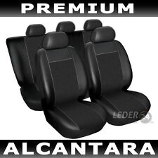Seat Covers Faux leather Universal Alcantara black Alfa Romeo 156