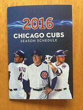 CHICAGO CUBS 2016 POCKET SCHEDULE RiZZO MADDON BRYANT
