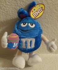M&M Blue Fuzzy Easter Bunny Plush Stuffed 2004