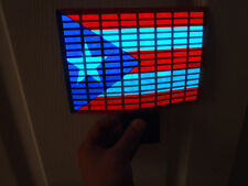 SOUND Activated PUERTO RICO FLAG CAR WINDOW STICKER SIGN LED Light UP FLASHING