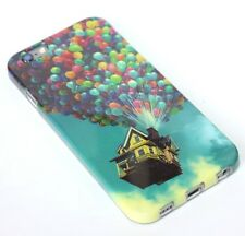 For iPhone 6 / 6S - HARD TPU RUBBER GUMMY SKIN CASE DISNEY'S UP BALLOONS HOUSE