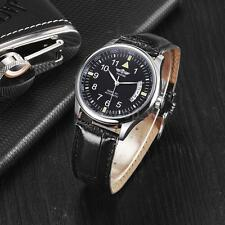 Winner Black Men's Stainless Steel Leather Automatic Mechanical Wrist Watch C8V3